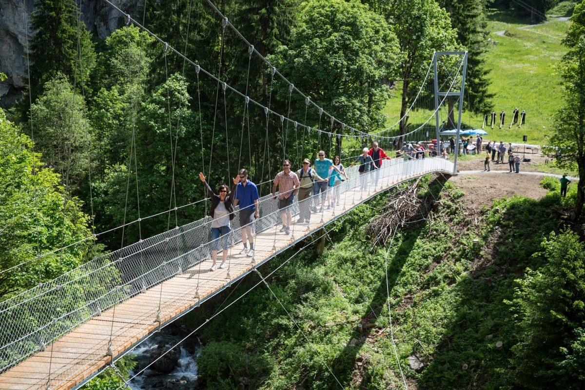 Einweihung Hängebrücke