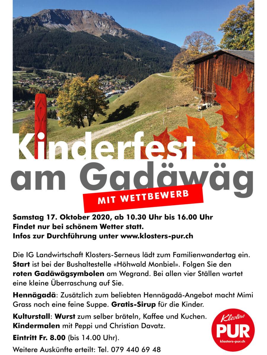 ABGESAGT: Kinderfest am Gadäwäg
